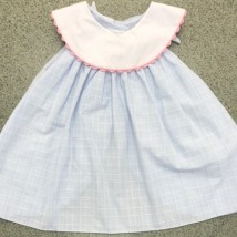 Blue & White Set Pink Trim