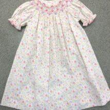 Floral Smocke Dress 12,18,24m