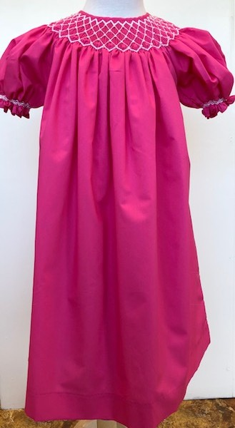 454244befbd3 Mom & Me- Hot Pink Smocked Dress | Fisher's Baby Boutique