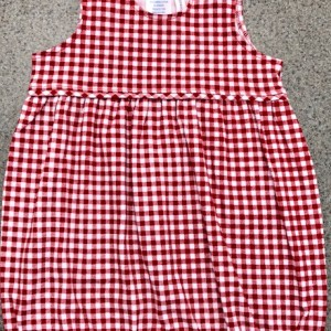 Red Check Romper