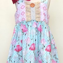 Vintage Flamingo Dress