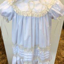 lg. White Dress w ecru lace detailing