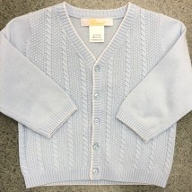 Blue Cardigan w White Trim