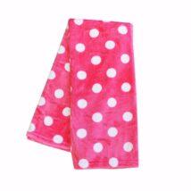 Coral polka dot blanket