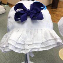 White Ruffle Hat