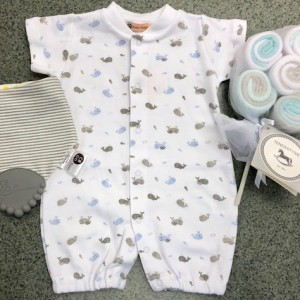 Blue & Grey Whales Romper