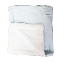 Blue Mink Sherpa Blanket