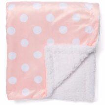 Pink Polka Dot Sherpa Blanket