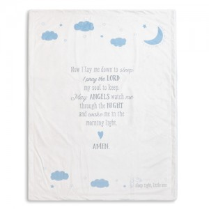 Goodnight Prayer Blanket Blue
