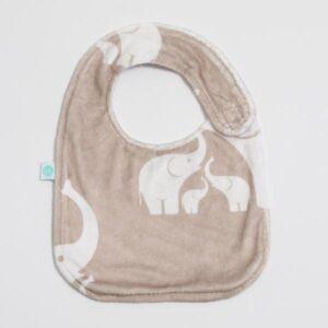 Linen Elephant Bib