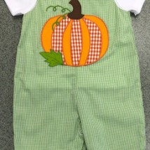 Green Check Pumpkin Longall
