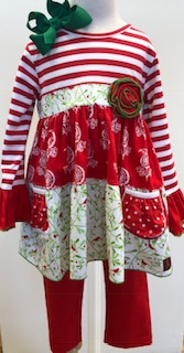 f18684f559fe69 Millie Jay- Christmas Legging Set | Fisher's Baby Boutique