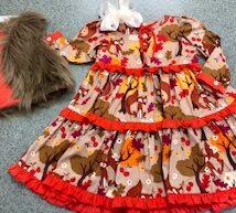 Fall Fun Fox Dress Fur Vest