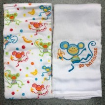Blue Monkey Burpcloths