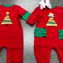 Boy & Girl Christmas Romper
