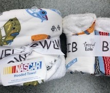 Nascar Hooded Towel & Washcloth Set