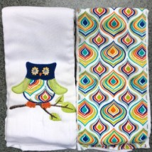 Navy Owl Burpcloths