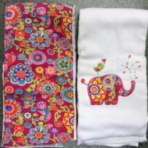 Pink Elephant Burpcloths