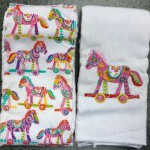 Pink Horse Burpcloths