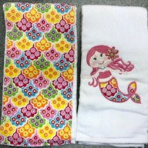 Pink Mermaid Burpcloths