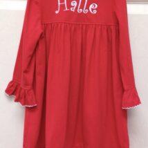 True Christmas Dress Monogrammed