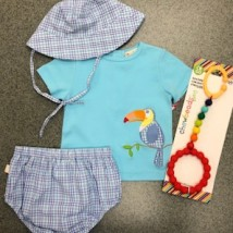Bird Diaper Cover Set w Hat