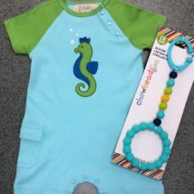 Boy's Seahorse Romper
