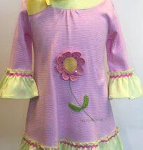 Crochet Flower Bell Sleeve Dress