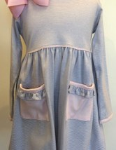 Grey and Light Pink Stripe Dress monogrammable