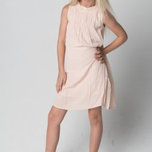 Light Pink Dress w Ruffled Neck