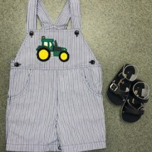 Navy & White Tractor