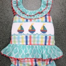 Sailboat Smocked Swimsuit 1