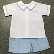 Blue & White Short Set