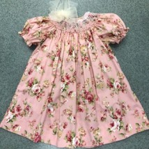 Blush Roses Smocked Dress