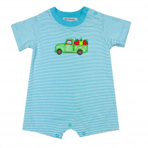 Boy's Strawberry Truck Romper