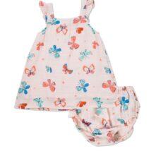 Butterflies Sun Dress & Diaper Cover