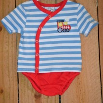 Choo Choo Applique Diaper Set
