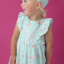 Flamingo Ruffle Sundress and Diaper Cover