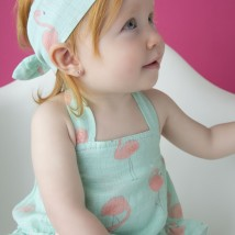 Flamingos Ruffle Sunsuit