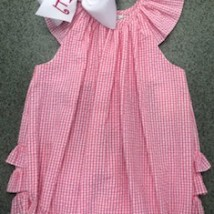 Pink Gingham Ruffle Bubble
