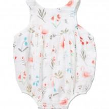 Swan Floral Muslin Empire Yoke Bubble