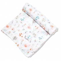 Swan Floral Swaddle