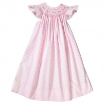 Pink Dot Smocked Dress