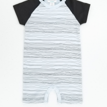 Stripe Baby Blue Romper