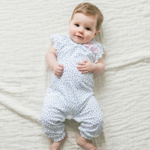 Pintas Blue & White Bow Romper 3