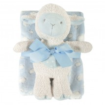 Blue Lamb Blanket Toy Set