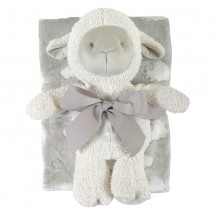 Gray Lamb Blanket Toy Set