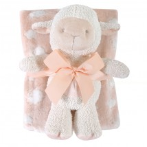 Pink Lamb Blanket Toy Set