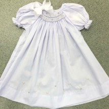 Lavender Smocked Day Dress