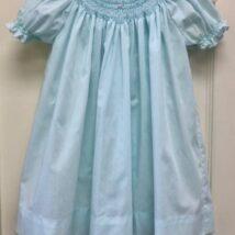 Mint Pearl Smocked Dress